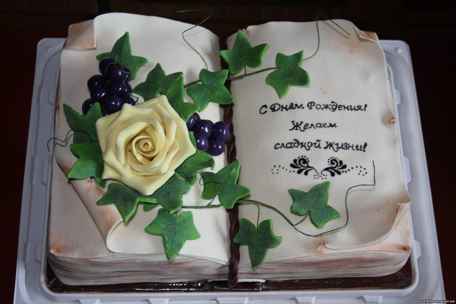 Торт в виде открытки на день рождения 53